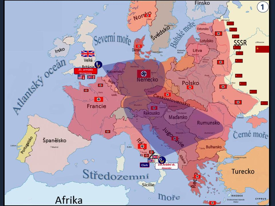 Animace Prubehu 2 Svetove Valky V Evrope